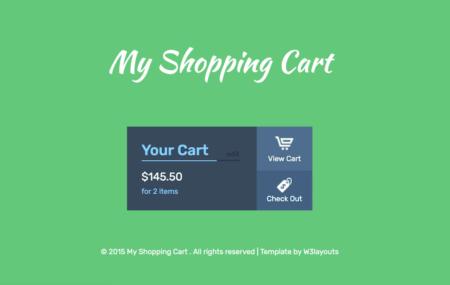My Shopping Cart 购物车模板