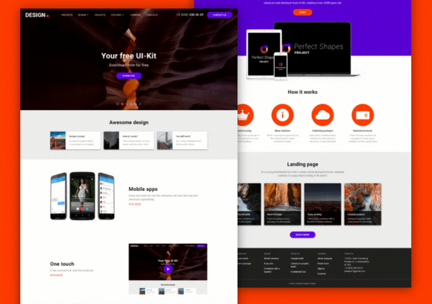 Free UI Kit by Perfect Shapes Project