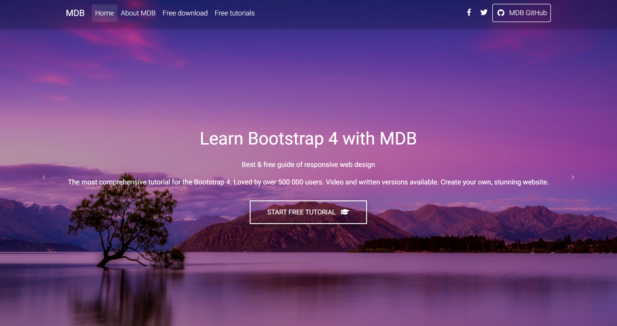 Bootstrap 4 & Material Design -作品集模板
