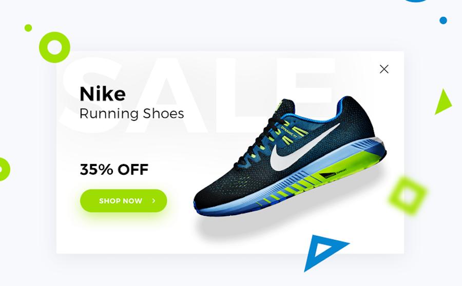 Nike折扣信息弹窗