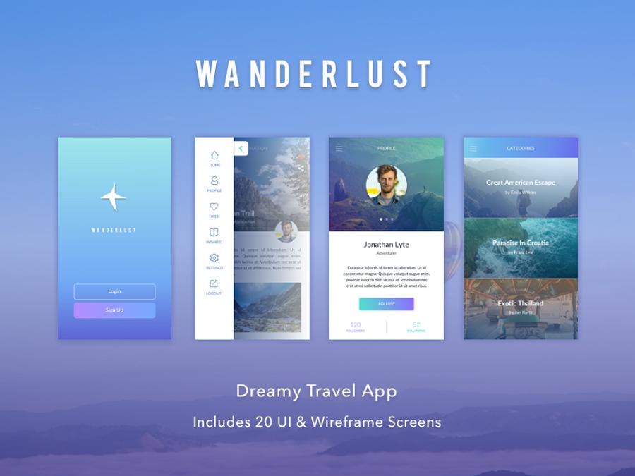 Wanderlust APP design
