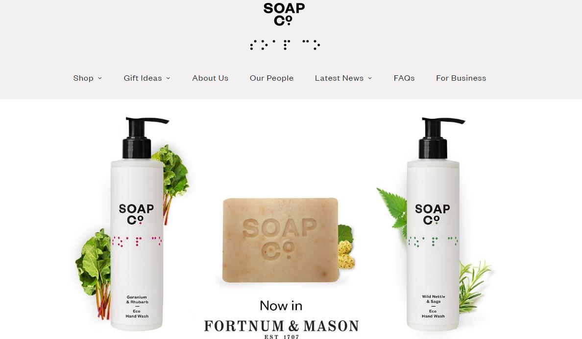 The Soap CO是一个销售香皂的网站