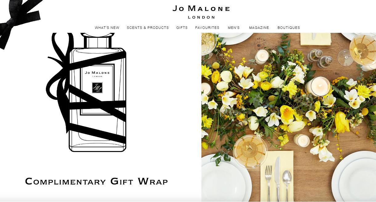 Jo Malone网站界面设计