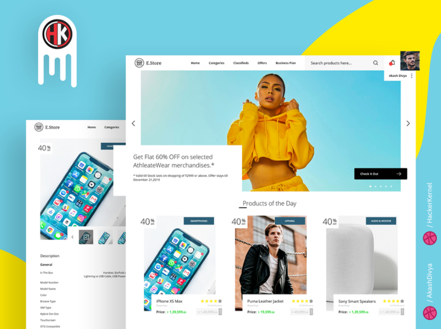 E-Store - a Modern E-Commerce Website Design