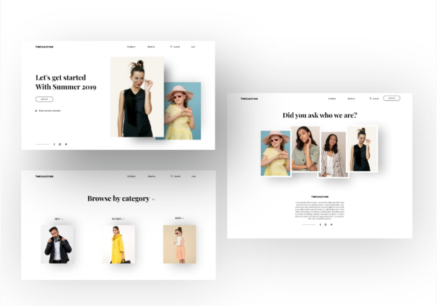 Fashion Ecommerce- Pages
