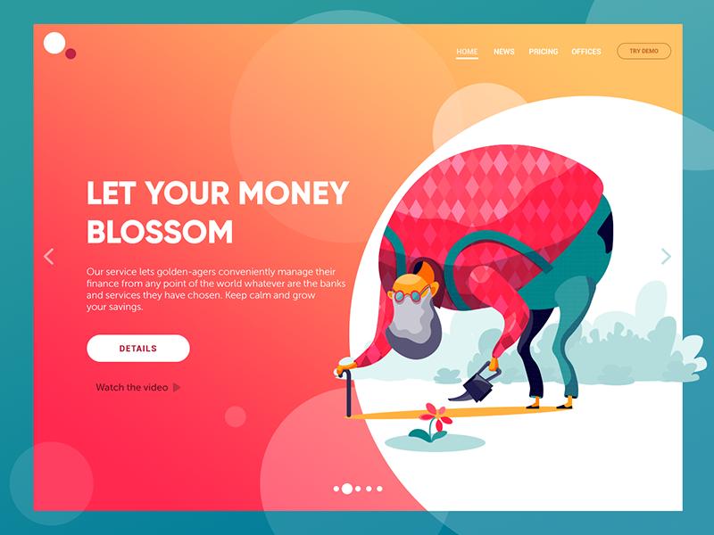 金融服务网站的插图