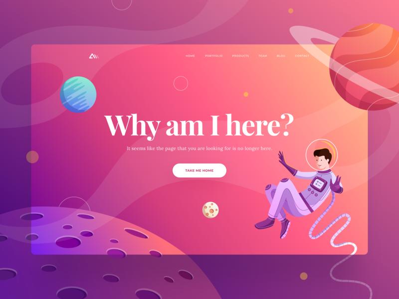 Website background design 404 page