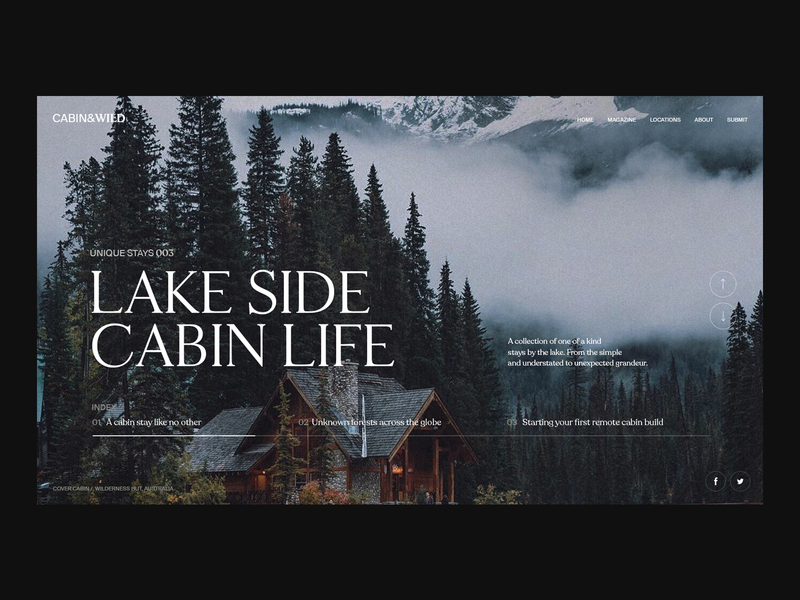 cabin wild lake side