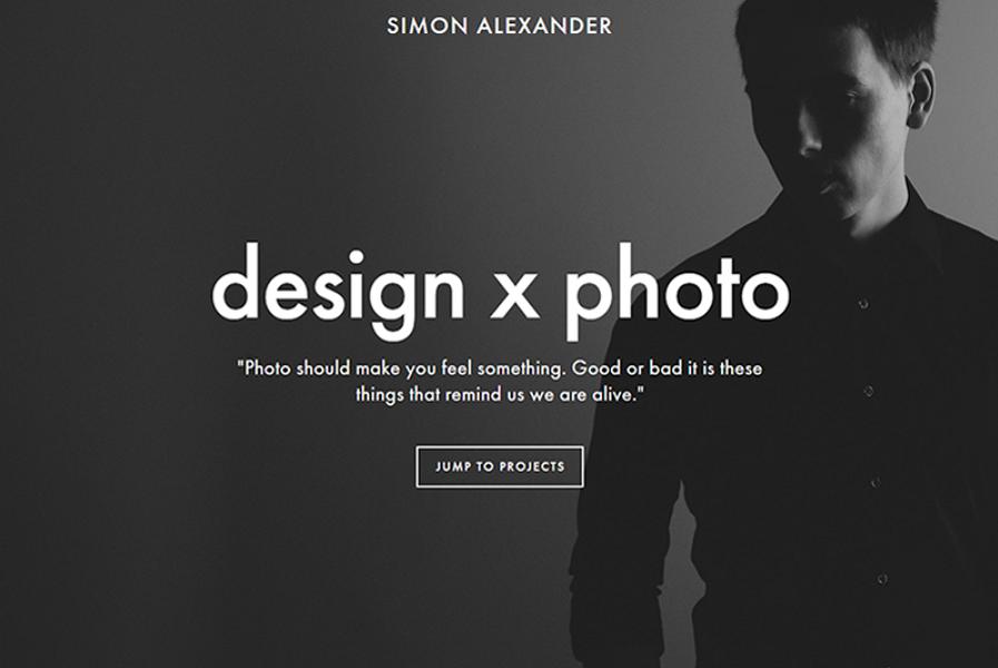黑白配色的极简主义网页设计