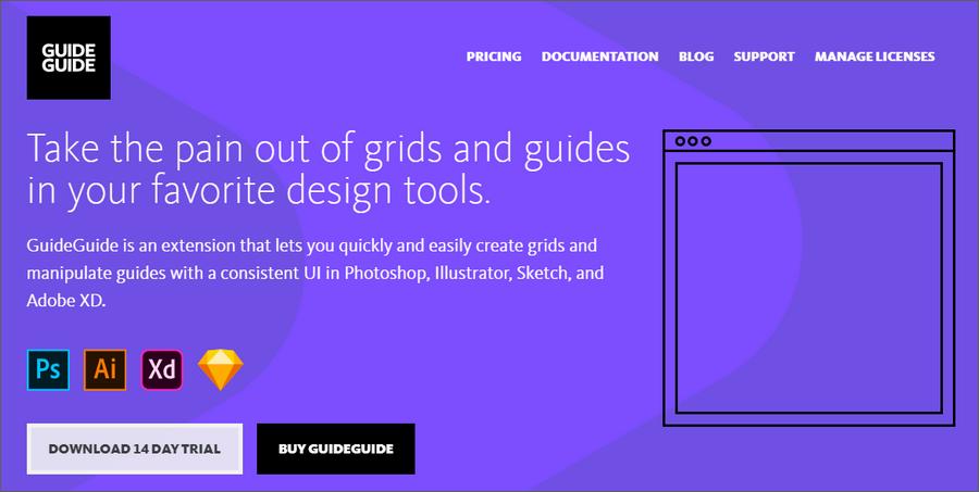 UI设计师必备划参考线工具-GuideGuide