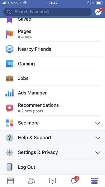Facebook注销退出页面设计