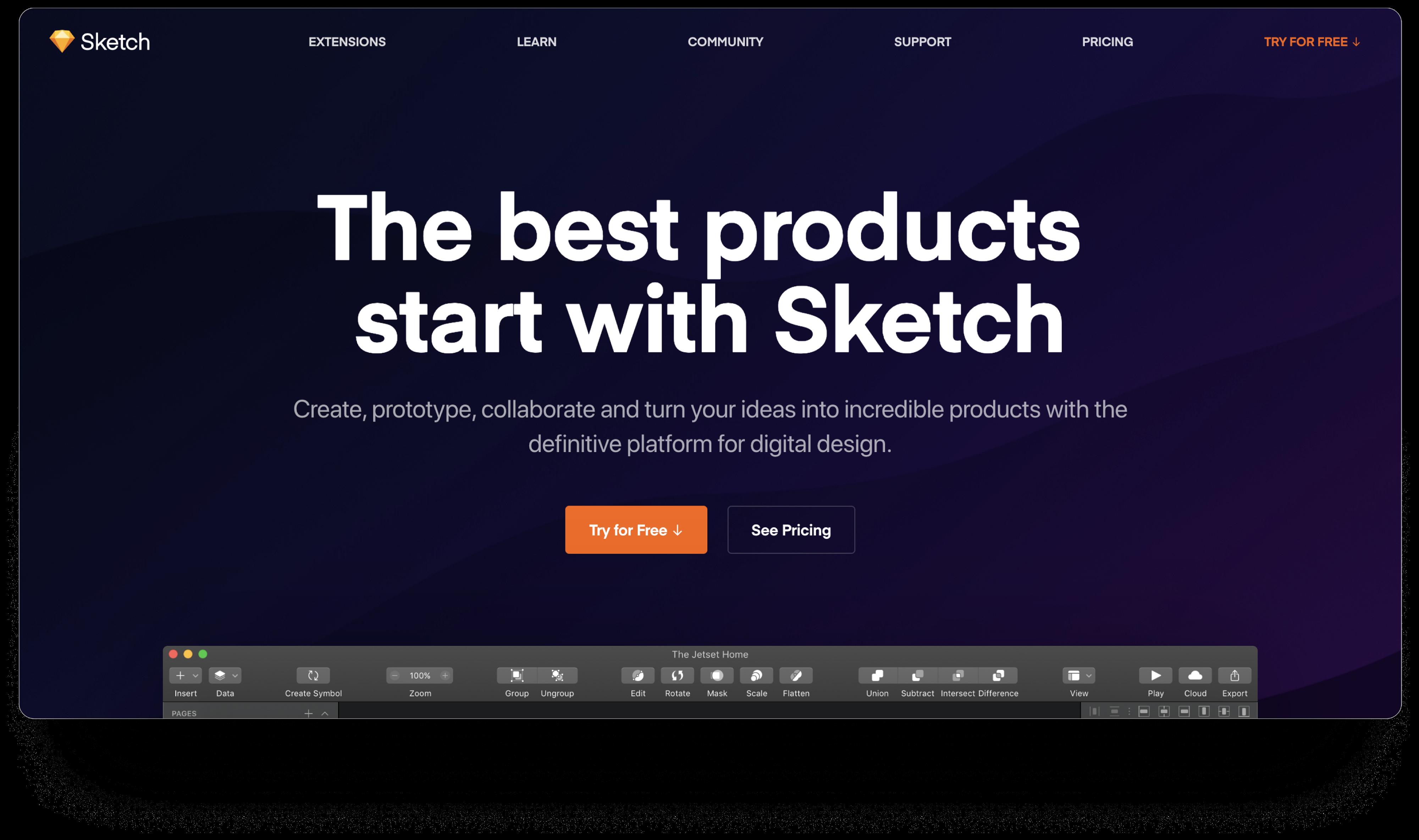 Sketch App着录页