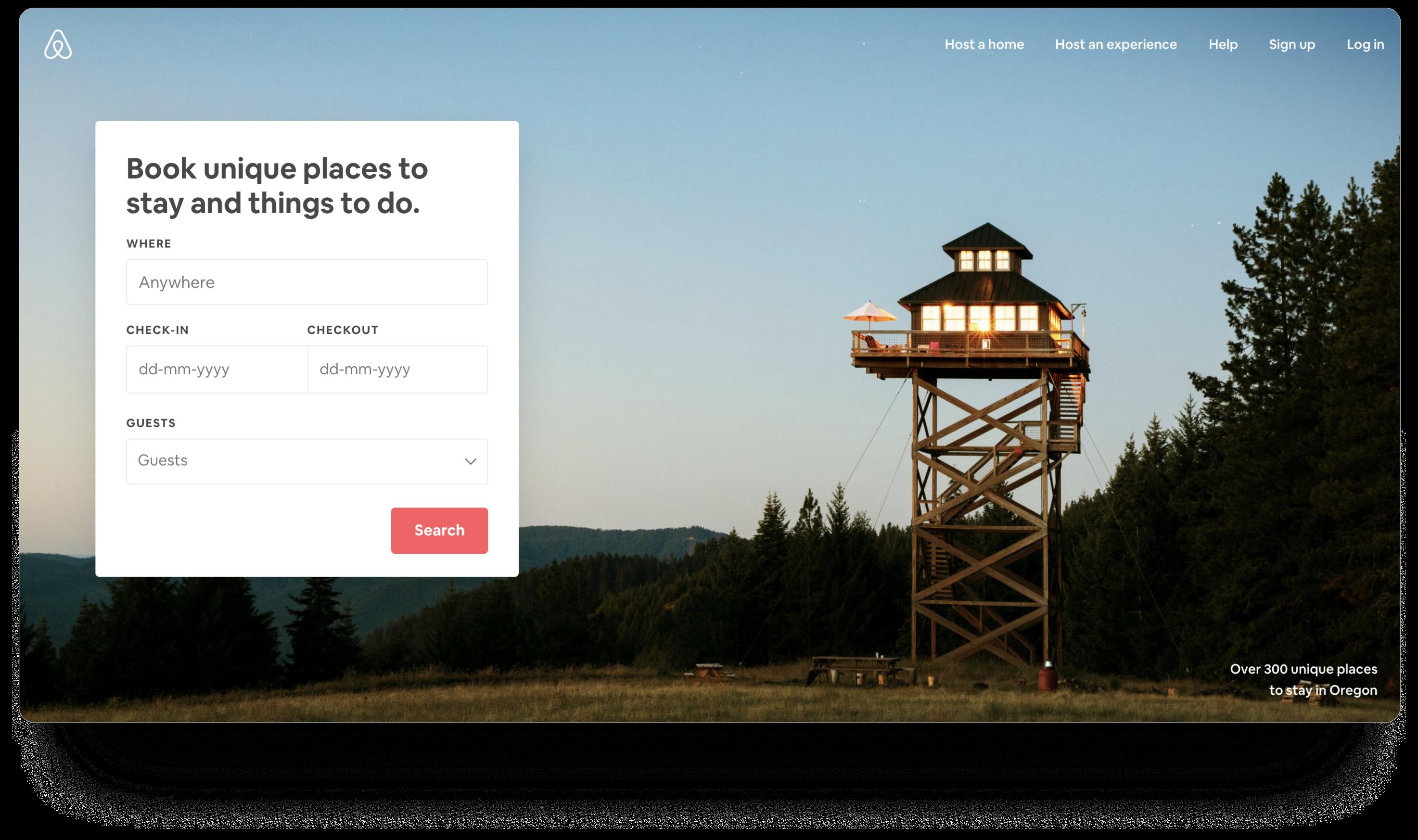Airbnb用户流程&CTA按钮