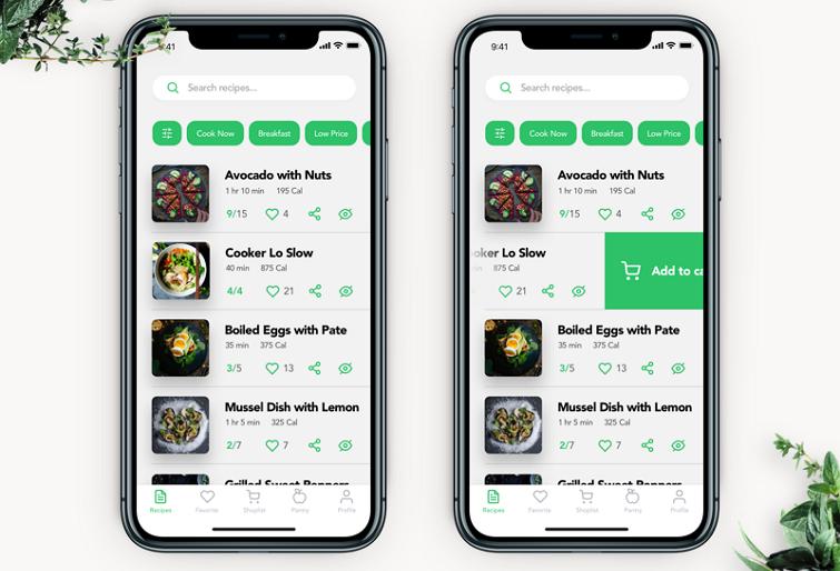 Perfect Recipe使用实线分割线来分隔菜单。