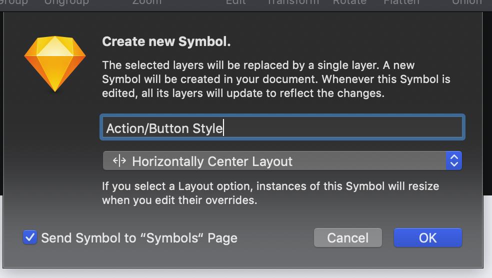 按钮转化成符号