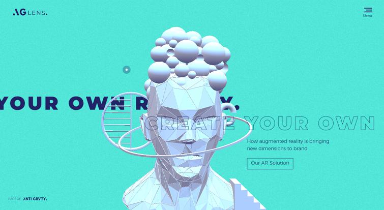 逼真的3D网页设计