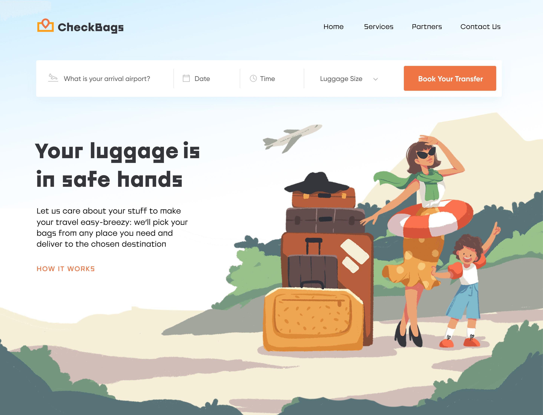行李托运网站登陆页面
