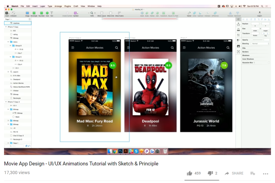 Movie App Design